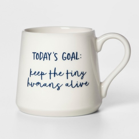 16oz Porcelain Today's Goal Mug White - Threshold™ - image 1 of 1