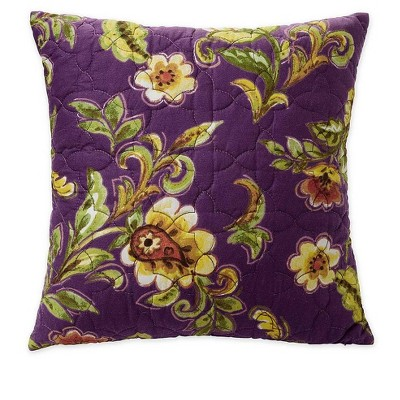 Delilah Floral Cotton Quilted Throw Pillow