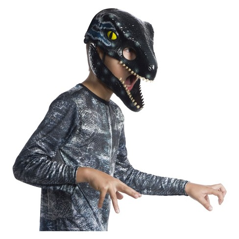 Jurassic World 2 Velociraptor Blue Dinosaur Movable Jaw Child Mask