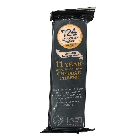 724 Wisconsin Select 11 Year Aged Wisconsin Cheddar Cheese - 5oz - image 1 of 1