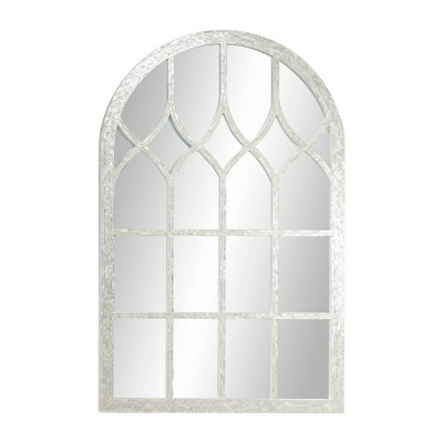 """31.5"""" x 48"""" Large Cathedral Window Wall Mirror with Natural Pearl Shell Arched Mirror Frame - Olivia & May"""