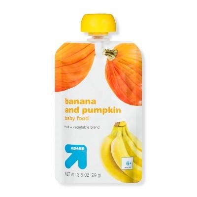 Baby Food Stage 2, Banana and Pumpkin - 3.5oz - Up&Up™