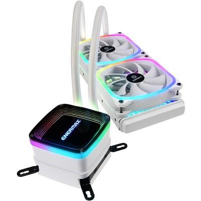 Enermax AQUAFUSION 240 ELC-AQF240-SQA-W Cooling Fan/Radiator/Water Block - 2 x 120 mm - 2 x 79.8 CFM - 32.6 dB(A) Noise - Liquid Cooler Cooler