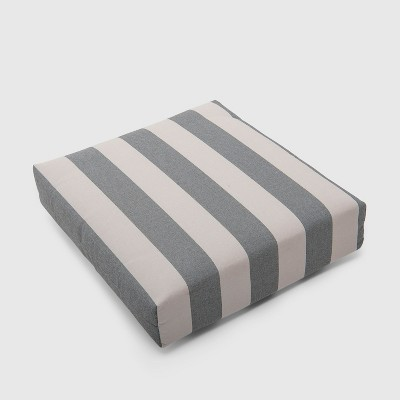 Cabana Stripe Outdoor Deep Seat Cushion Black - Threshold™