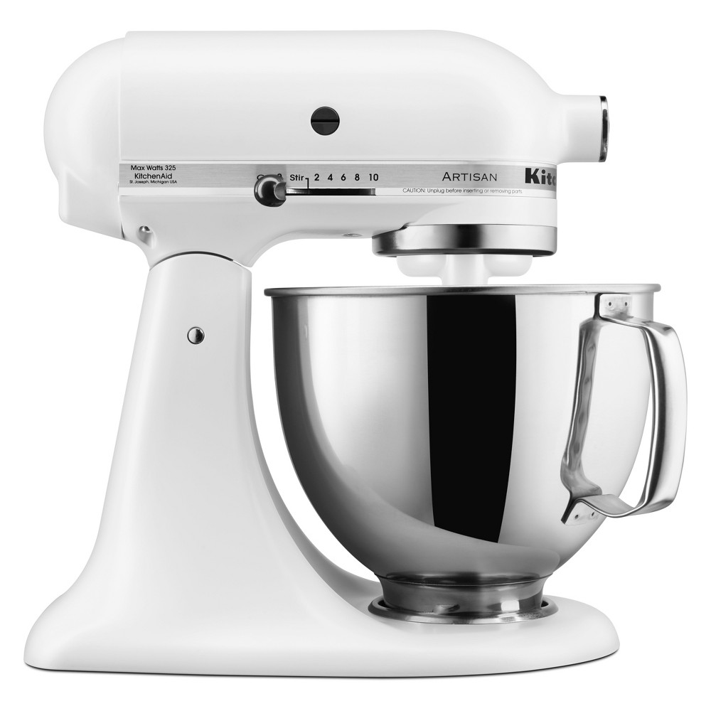 KitchenAid Refurbished 5qt Artisan Stand Mixer Matte White – RRK150FW 53960936