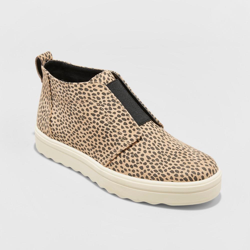 Women's Lilian Microsuede Leopard Print Slip On Sneakers - Universal Thread Brown 5.5