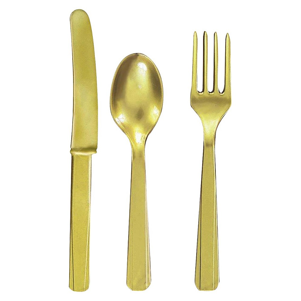 24ct Gold Disposable Cutlery