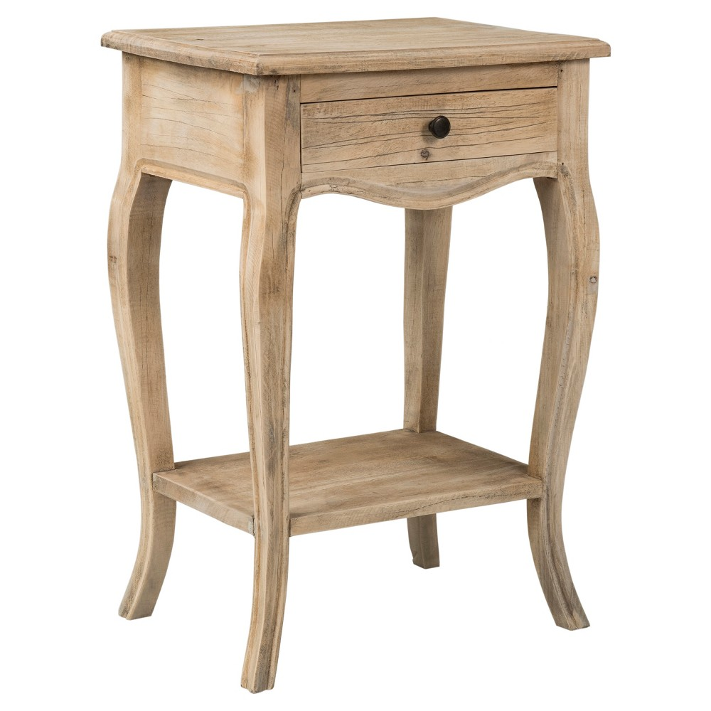 Bishop Rectangular Rubberwood Accent Table - Brown - East At Main
