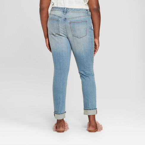 11a2076a02091 Women s Plus Size Destructed Skinny Jeans - Universal Thread™ Medium Wash  22W