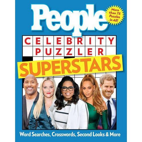 People Celebrity Puzzler Superstars : Word Searches, Crosswords, Second Looks & More -  (Paperback) - image 1 of 1