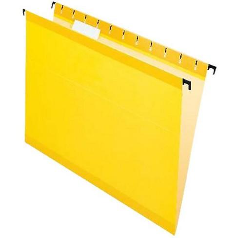 Pendaflex SureHook Polylaminate 1/5 Cut Hanging File Folder, Letter, Yellow, pk of 20 - image 1 of 1