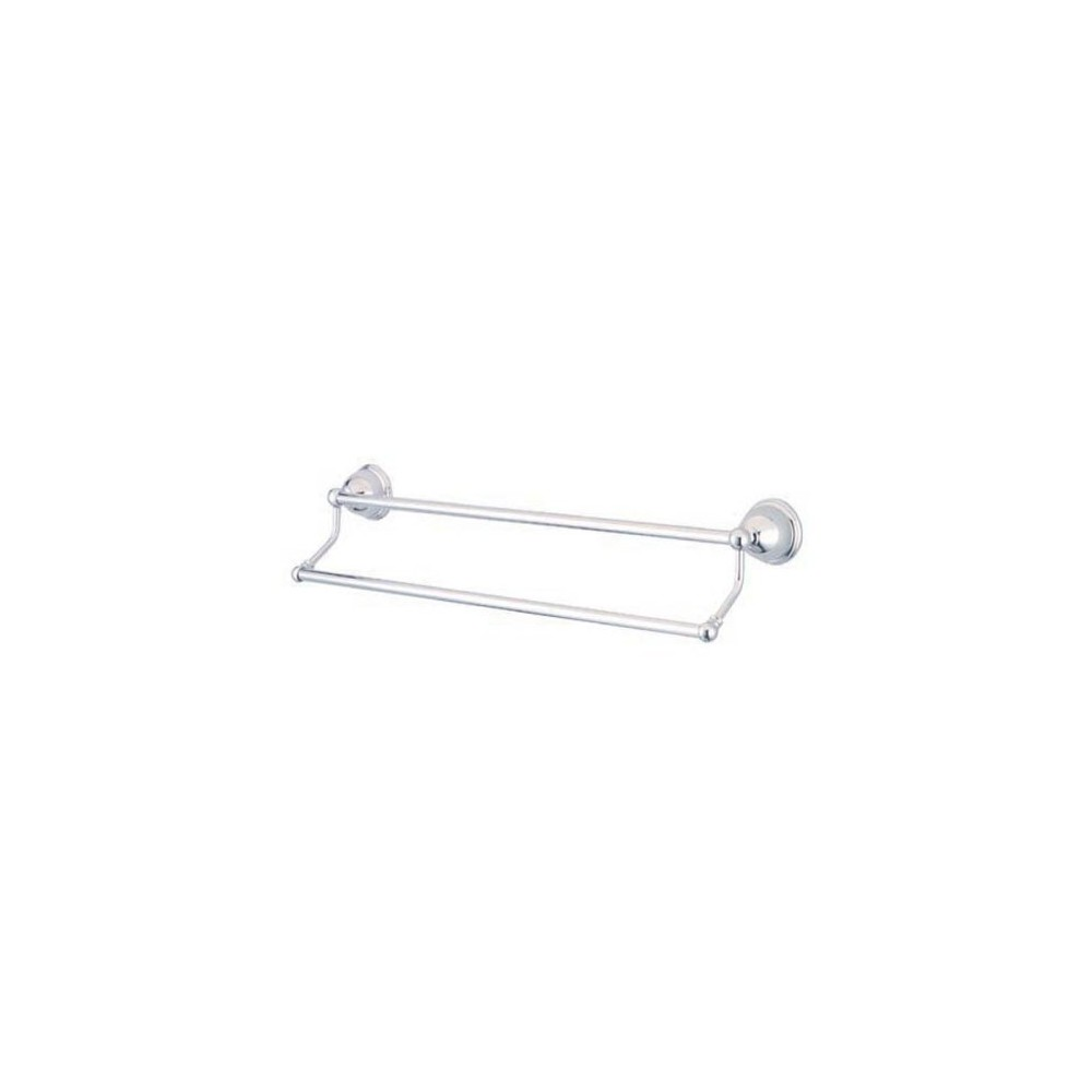 Image of 24 Dual Towel Bar Chrome (Grey) - Kingston Brass