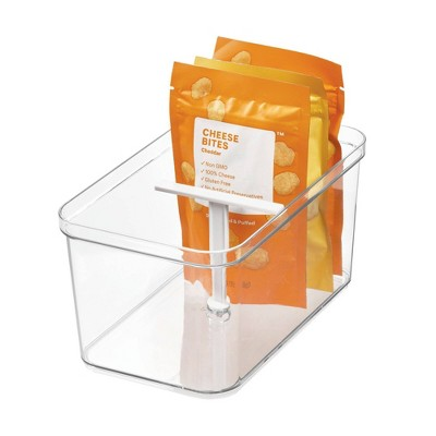 iDESIGN Crisp Deep Drawer Bin with T-Handle Clear