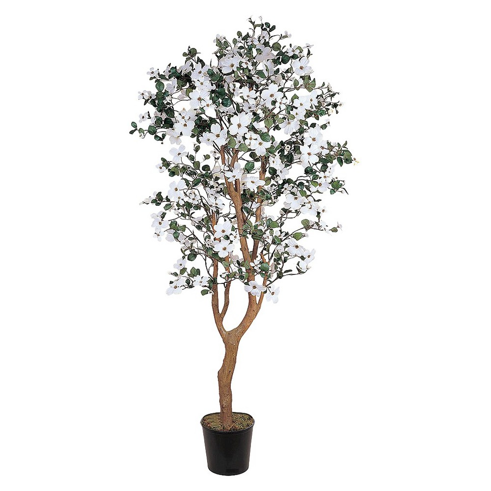 Image of Nearly Natural 5' Dogwood Silk Tree, White