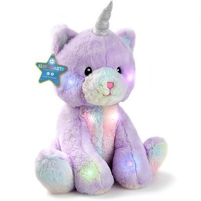 "FAO Schwarz Glow Brights Toy Plush LED with Sound Kittycorn 15"" Stuffed Animal"