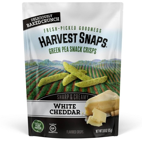 Harvest Snaps Green Pea Snack Crisps White Cheddar - 3.0oz - image 1 of 3