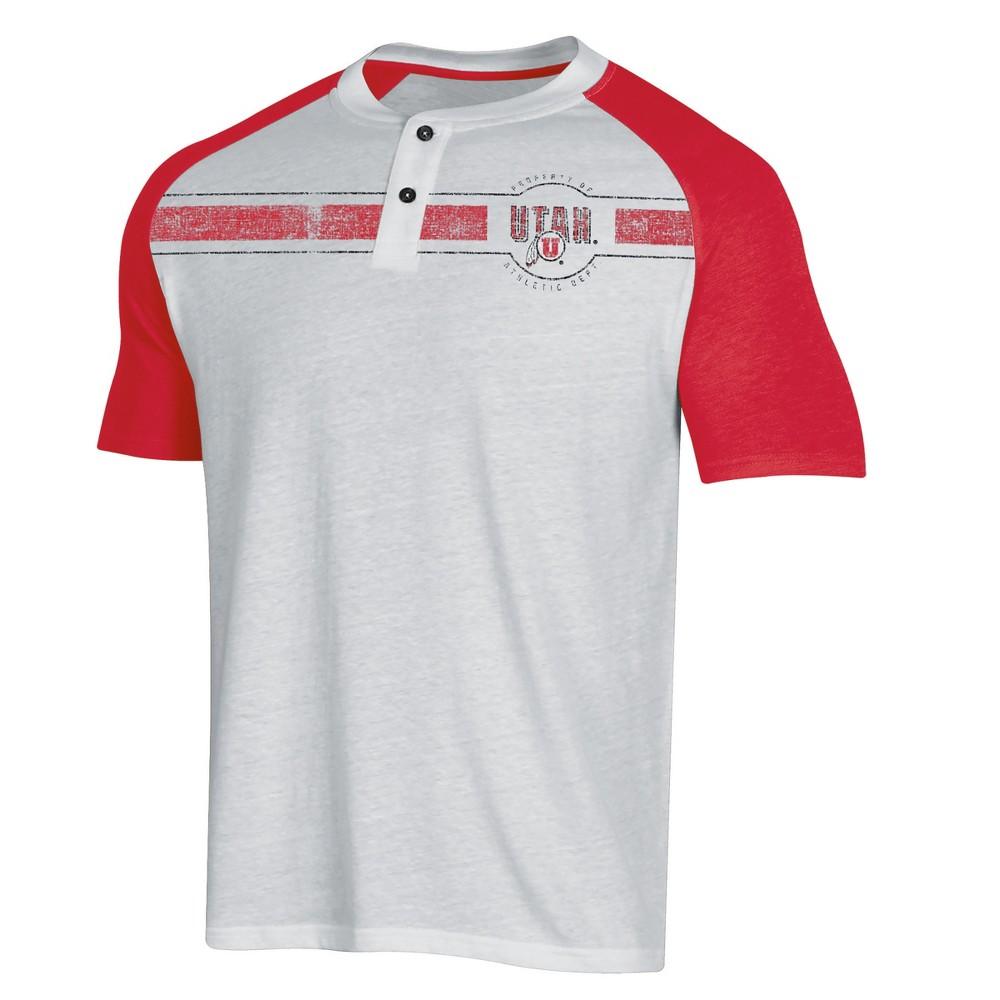 NCAA Men's Raglan Henley T-Shirt Utah Utes - Xxl, Multicolored