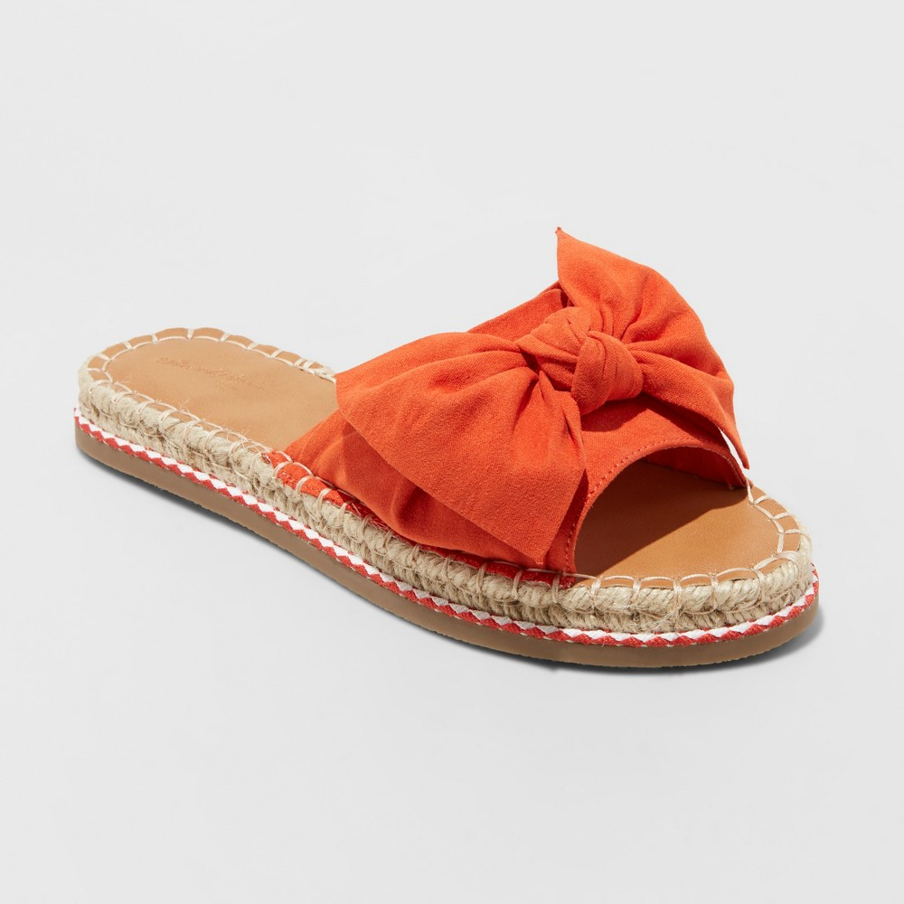 Women's Sigma Espadrille Knotted Bow Sandals - Universal Thread Orange 5