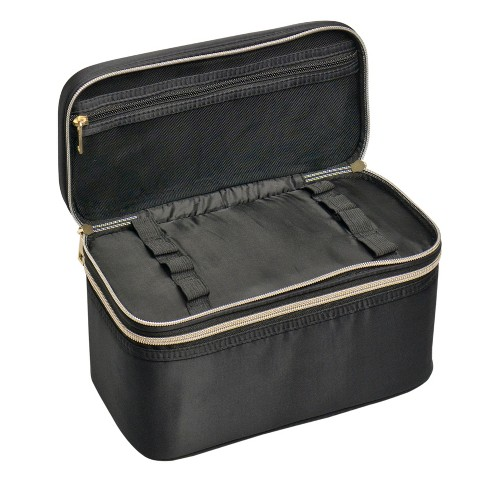 34707024bb Sonia Kashuk™ Double Zip Train Case Makeup Bag - Black   Target
