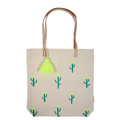 Meri Meri - Canvas Cactus Tote - Handbags - 1ct