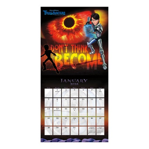 2018 trollhunters wall calendar trends international target