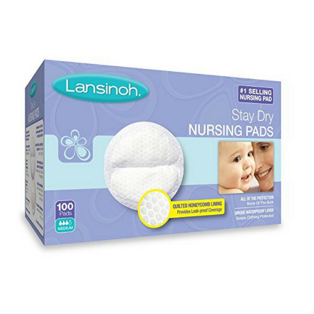 Lansinoh Disposable Nursing Pads 100ct, White