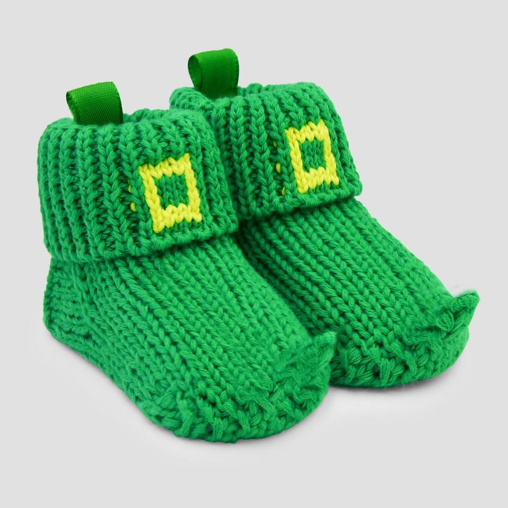Baby Knitted Leprechaun Slipper - Just One You made by carter's Green Newborn, Newborn Unisex
