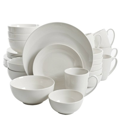 Gibson Home 30pc Porcelain Ogalla Dinnerware Set White