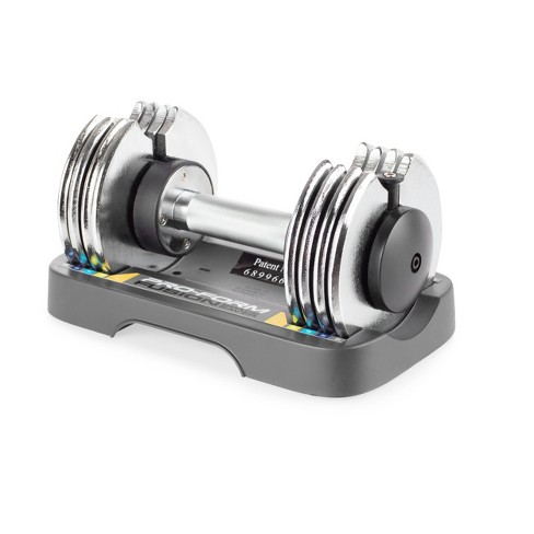 ProForm Adjustable Dumbbells 25lbs – Black/Silver - image 1 of 4