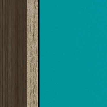 Oak Brown/Aqua