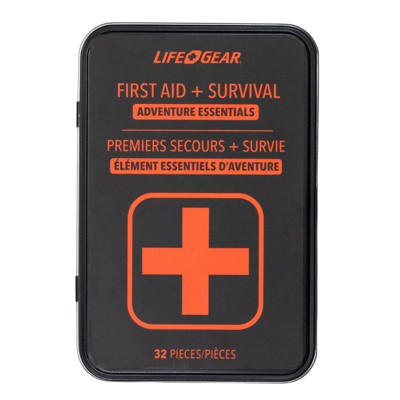 Life+Gear 32pc First Aid Survival Kit in Tin Case