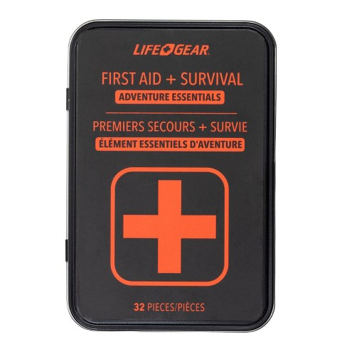 Life+Gear 32pc First Aid Survival Kit in Tin Case - image 1 of 4