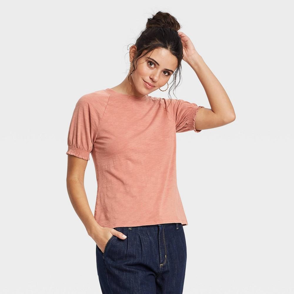 Women 39 S Short Sleeve T Shirt Universal Thread 8482 Light Brown Xxl