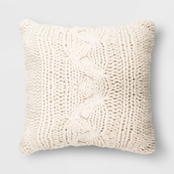 Oversized Square Chunky Cable Knit Throw Pillow - Threshold™