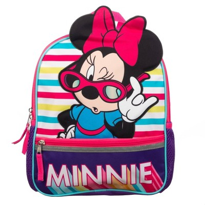 "Disney Minnie Mouse Kids' 12"" Backpack with Sunglasses"