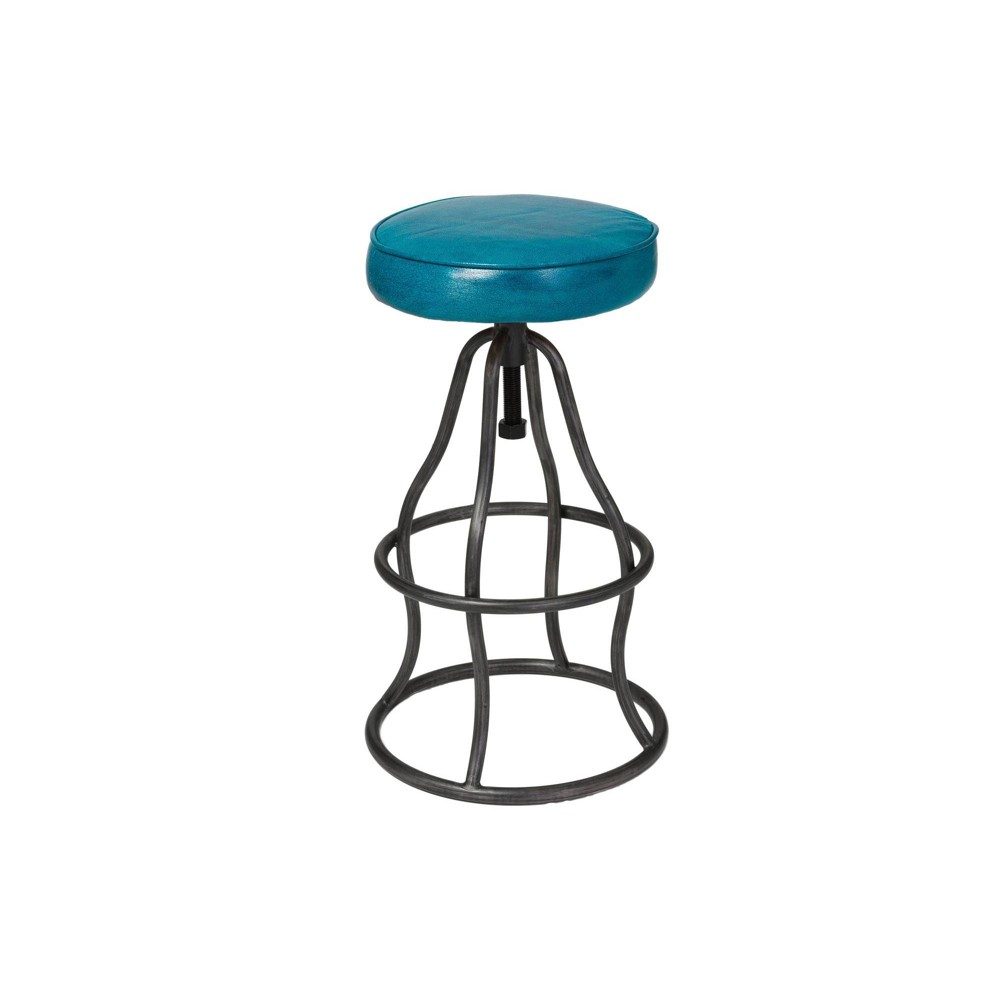 Image of Bowie Bar Stool Peacock Blue - Keswick