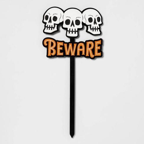 """24"""" Beware Halloween Yard Stake - Hyde & EEK! Boutique™ - image 1 of 1"""