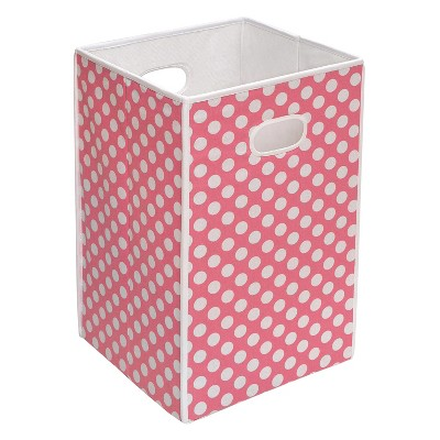 Badger Basket Folding Hamper/Storage Bin - Pink