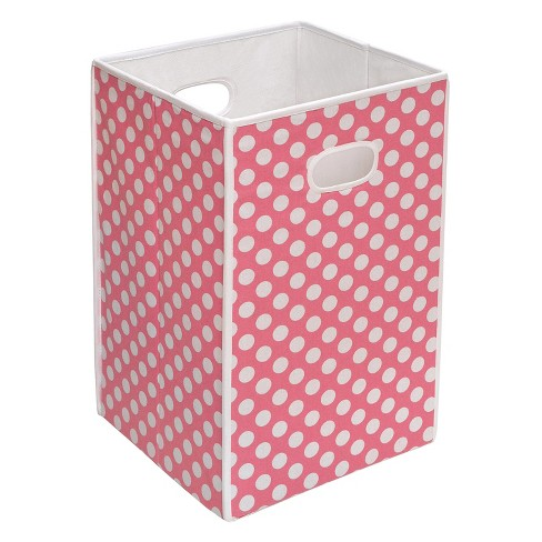 Badger Basket Folding Hamper/Storage Bin - Pink - image 1 of 1