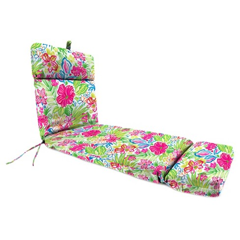 Outdoor French Edge Chaise Lounge Cushion- Jordan Manufacturing - image 1 of 3