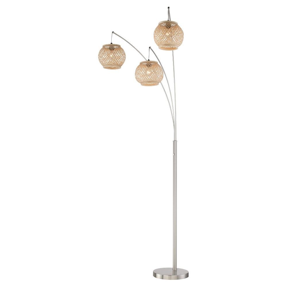 Evangeline Floor Lamp Polished Steel (Includes Energy Efficient Light Bulb) - Lite Source, Brushed Nickel