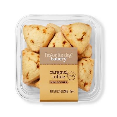 Caramel Toffee Mini Scones - 10.25oz - Favorite Day™