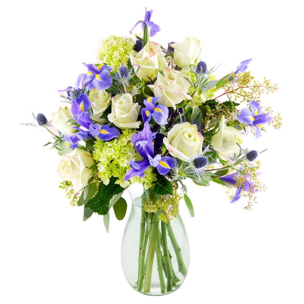 KaBloom Athena Wild Iris Mix Fresh Flower Arrangement - with Vase