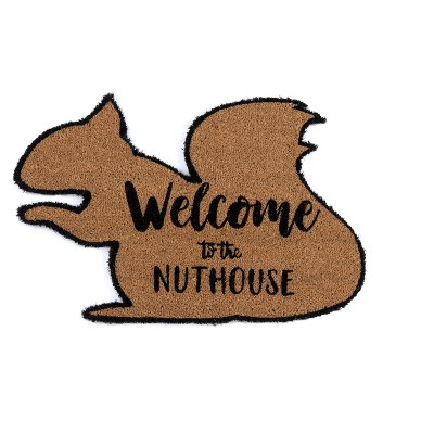 """""""Welcome To The Nuthouse"""" Doormat - Shiraleah"""