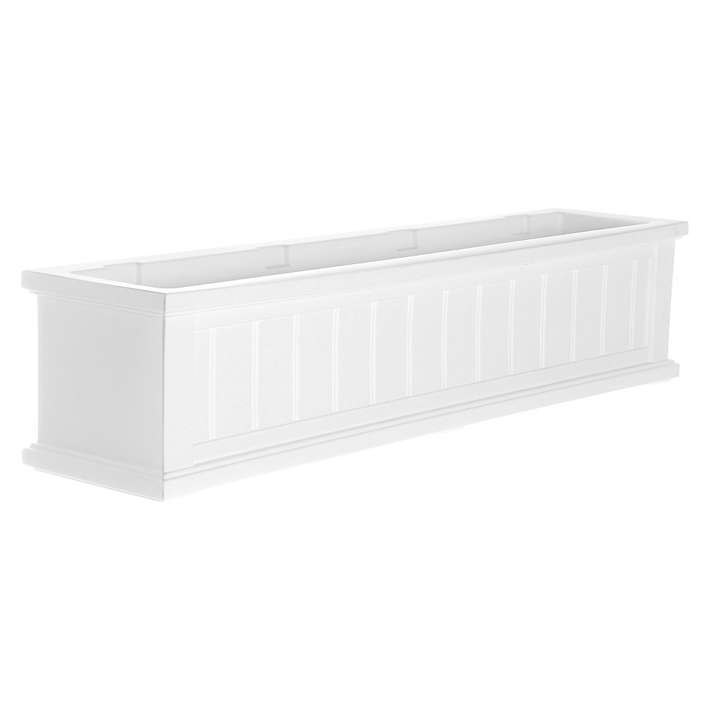 4' Cape Cod Rectangular Window Box - White - Mayne