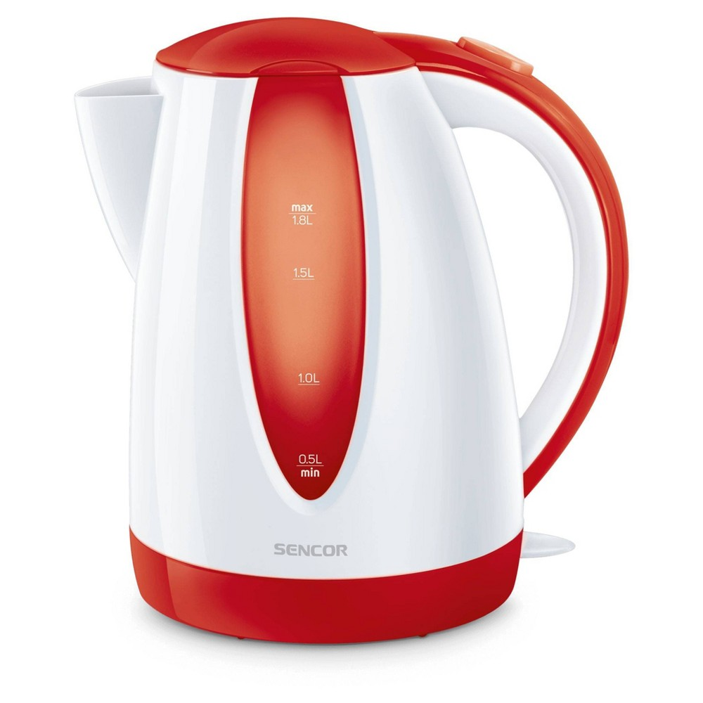 Sencor 1.8L Electric Kettle - Cordless electric kettles by Sencor heats water twice as fast as stove top, offering better speed, convenience, energy efficiency and safety! This electric kettle comes with a 360 degree swivel and bright finish. Color-coordinate with other kitchen electrics by Sencor to create a beautiful kitchen with European design touch! Color: Red. Gender: unisex.