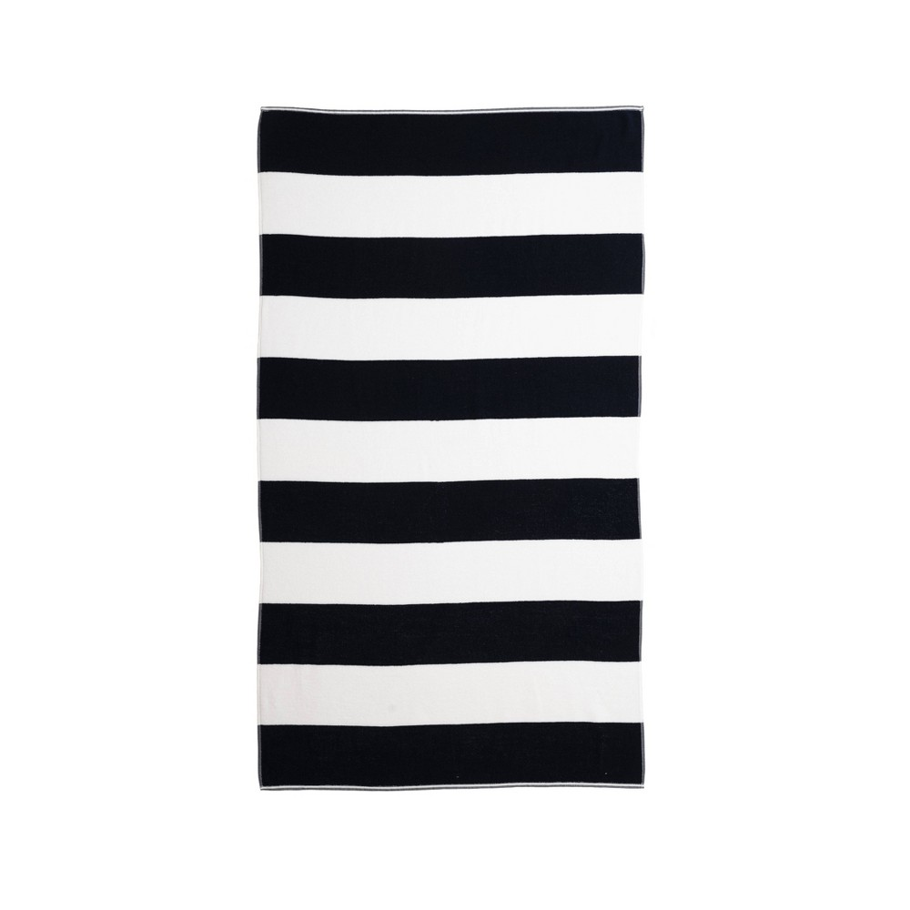 Image of Caro Cabana Beach Towel Navy - Caro Home, Blue