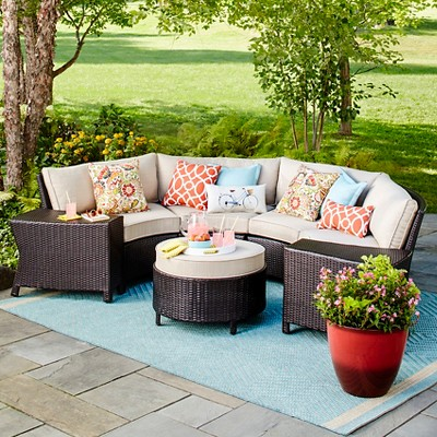 Harrison Wicker Patio Furniture Collection   Threshold™ : Target
