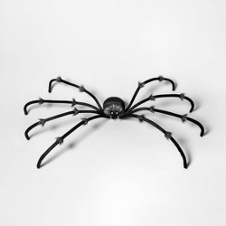 Plush Spider Decorative Halloween Prop Black Large - Hyde & EEK! Boutique™