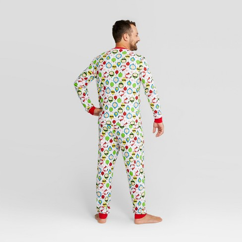 Men s Peanuts Holiday Pajama Set - White 2XL   Target 63db5b8ea